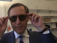 Glenn Hubbard, Dean, Columbia Business School, Tries On a Pair of EbK Glasses