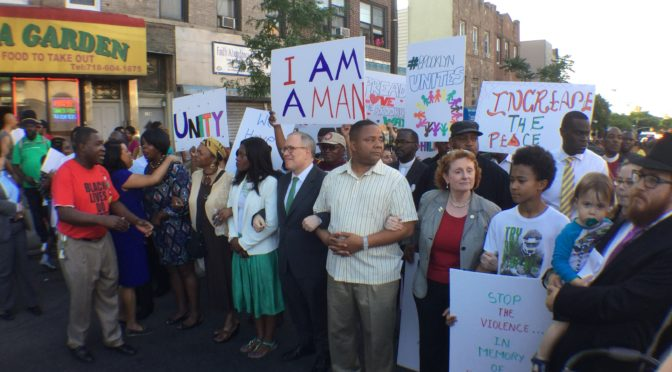Community Leaders March Against Gun Violence